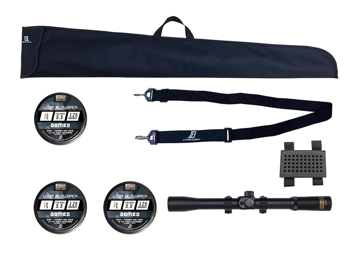 Chumbinho 5.5mm Domed P/ Carabina Pressão 375un + Kit 3