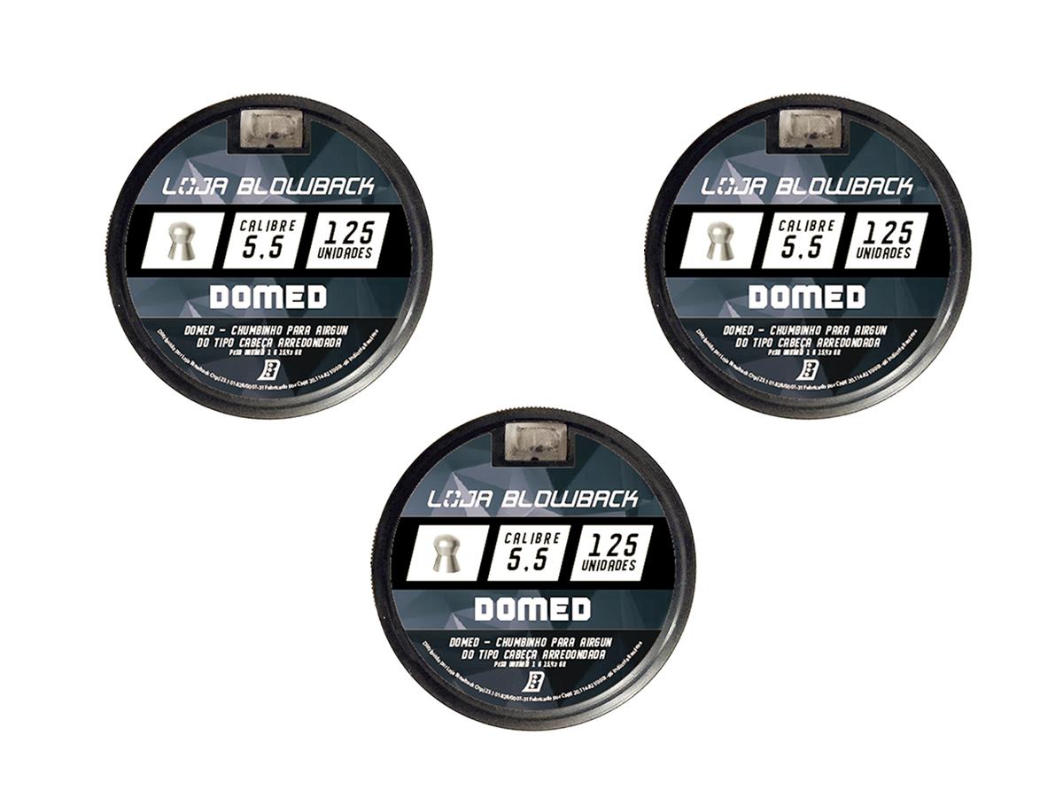 Chumbinho 5.5mm Domed P/ Carabina Pressão Premium 375un