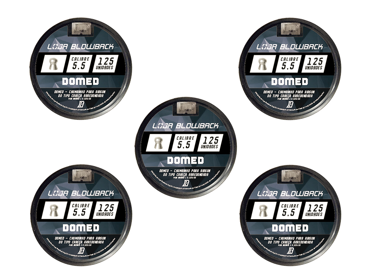 Chumbinho 5.5mm Domed P/ Carabina Pressão Premium 625un