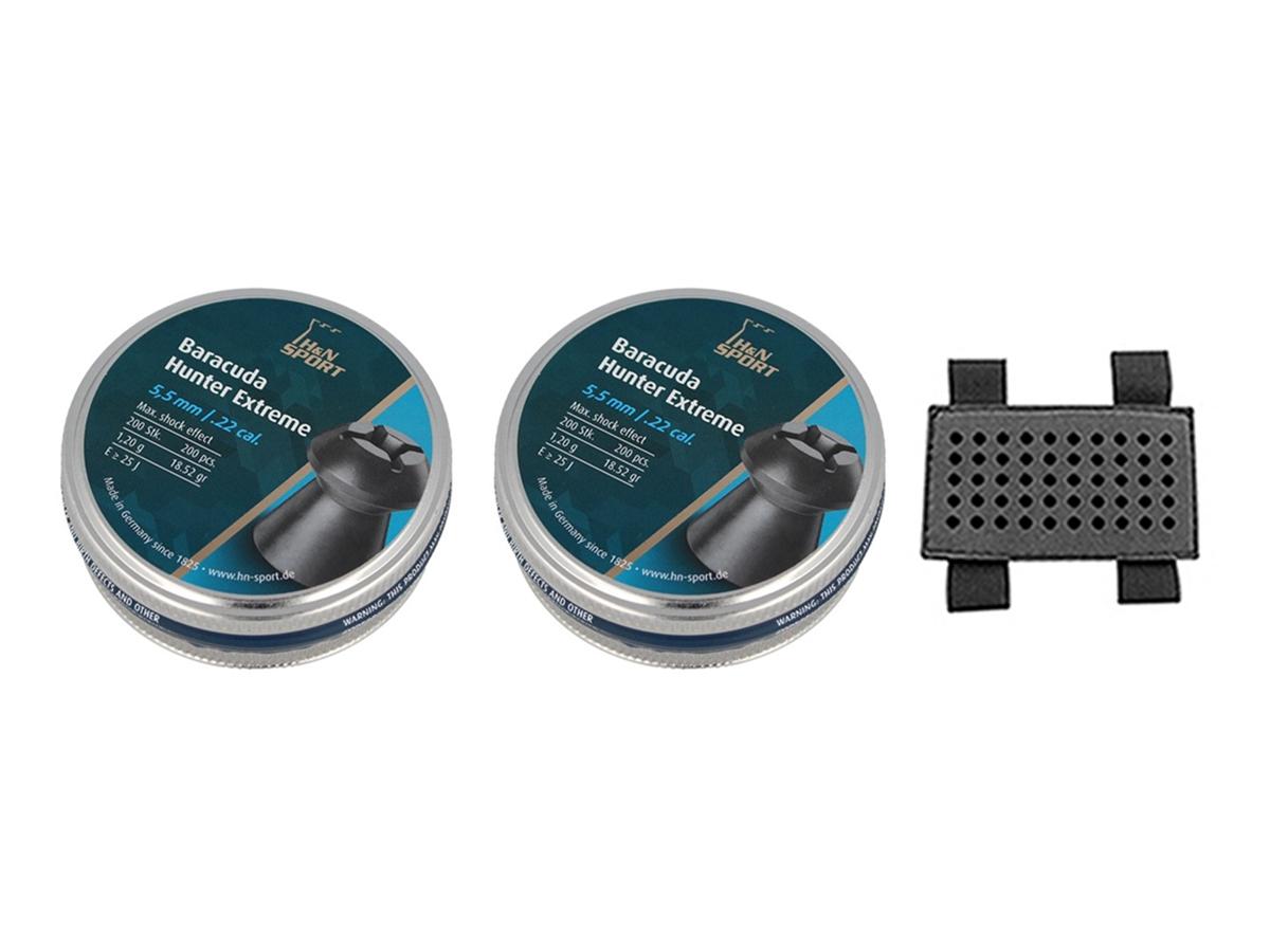 Chumbinho 5.5mm H&N Baracuda Hunter Extreme 400un + Porta chumbinho 5.5mm