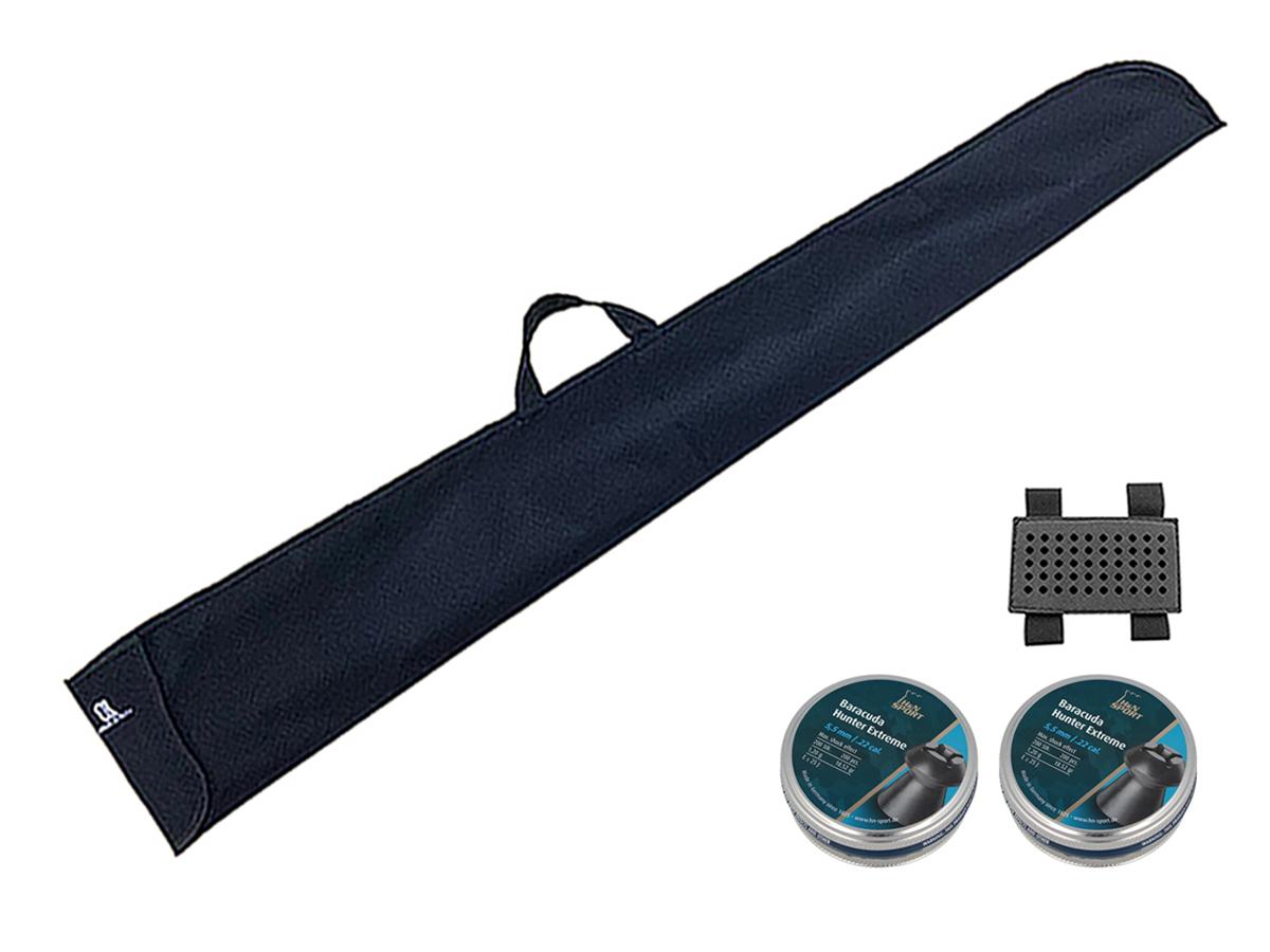 Chumbinho 5.5mm H&N Baracuda Hunter Extreme 400un + Porta chumbinho + Capa