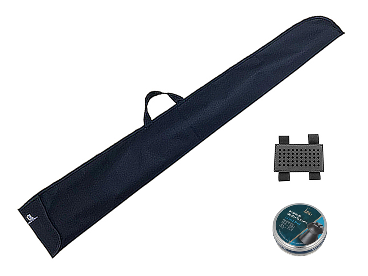 Chumbinho 5.5mm H&N Baracuda Hunter Extreme Carabina 200un + Porta chumbinho + Capa loja Blowback
