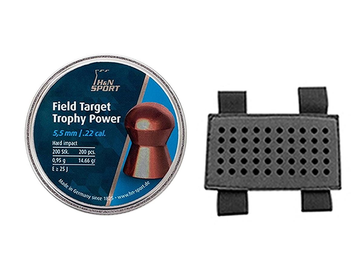 Chumbinho 5.5mm H&N Field Target Trophy Power 200un Kit 1