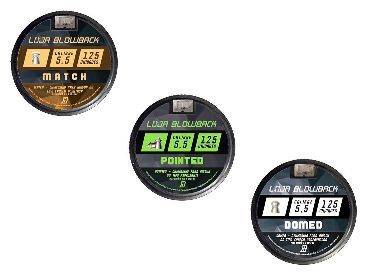 Chumbinho 5,5mm Kit Mix Variados P/ Carabina Pressão K1