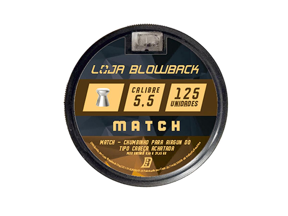 Chumbinho 5.5mm Match Carabina 375un + Porta Chumbinho 5.5mm