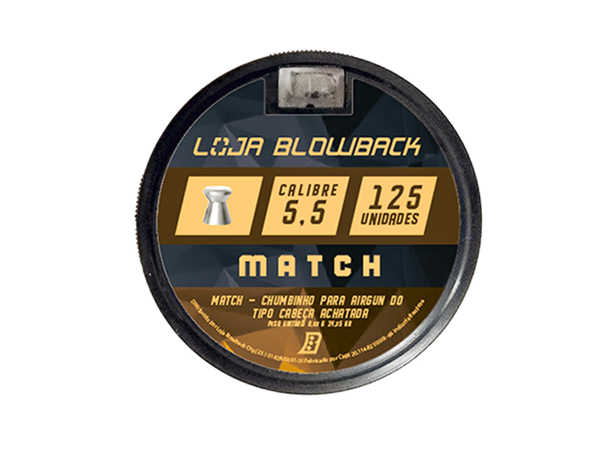 Chumbinho 5.5mm Match P/ Carabina 375un + Capa Loja Blowback
