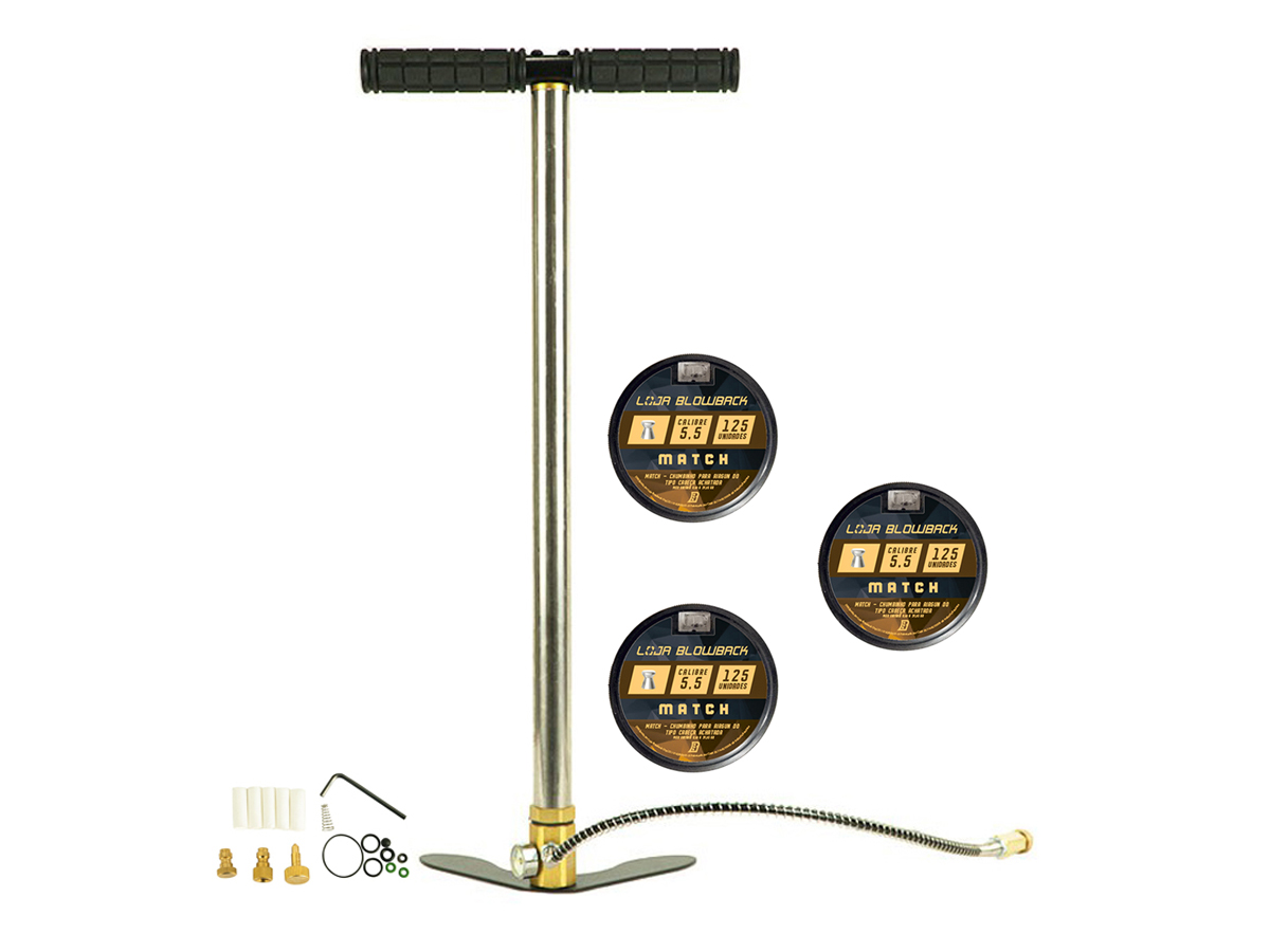 Chumbinho 5.5mm Match P/ Carabina Pressão 375un + Bomba PCP