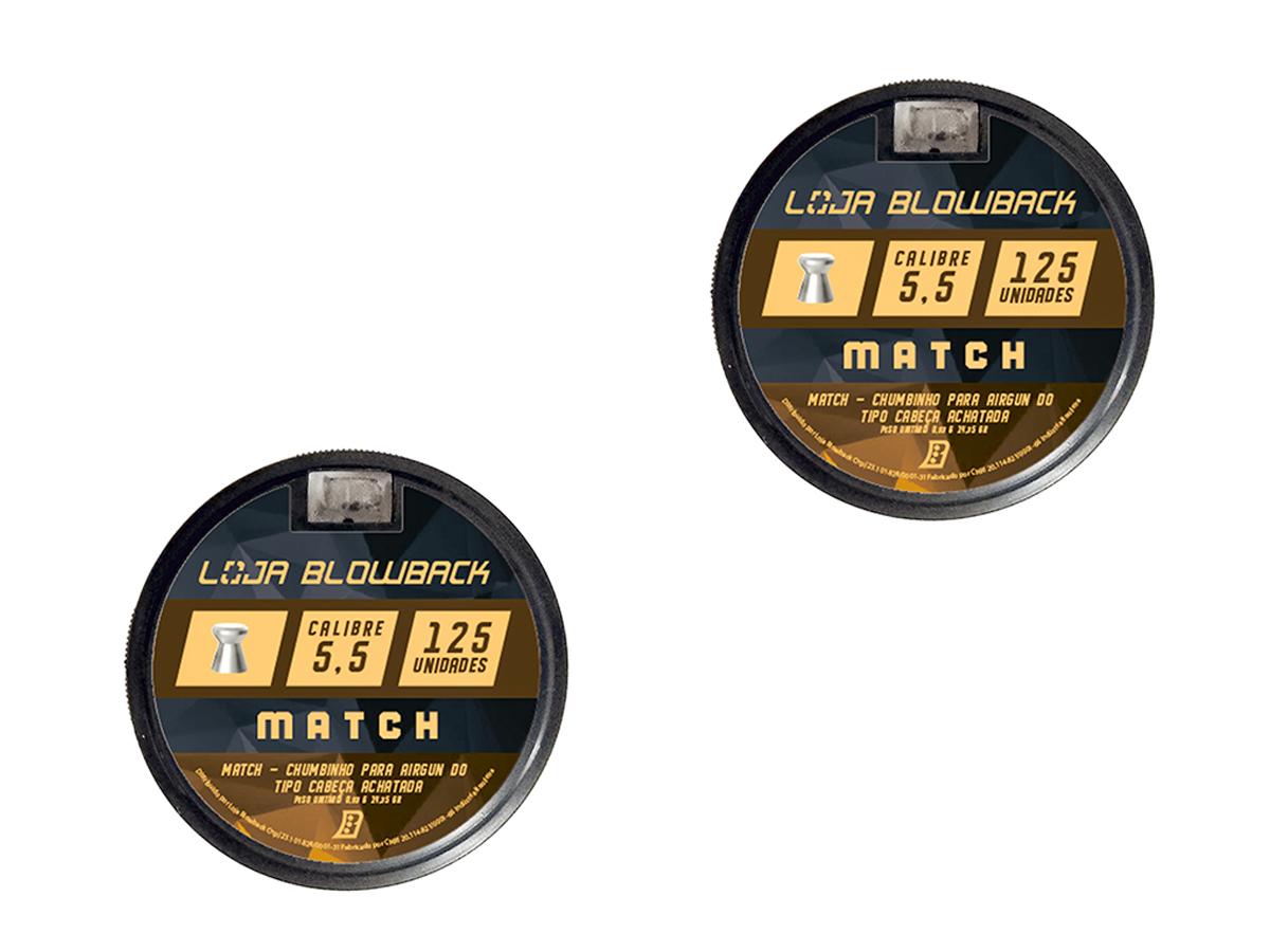 Chumbinho 5.5mm Match P/ Carabina Pressão Premium 250un