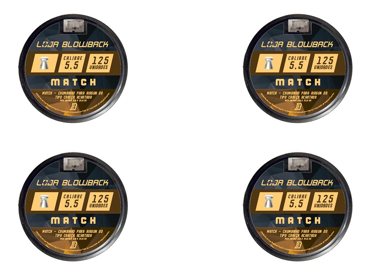 Chumbinho 5.5mm Match P/ Carabina Pressão Premium 500un