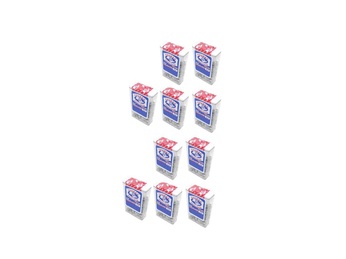 10 Pack de Chumbinho Diabolo 5,5mm Chumbo Paulista P/ Carabinas Pressão