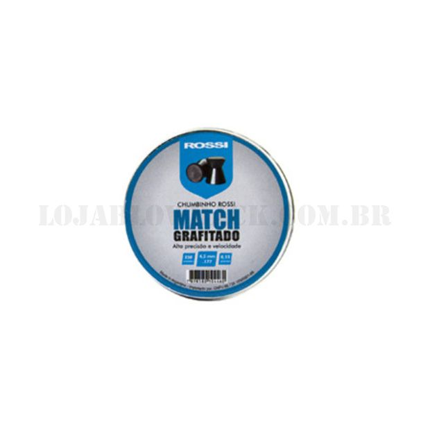 Chumbinho Match Grafitado - Cal 4,5 250 un