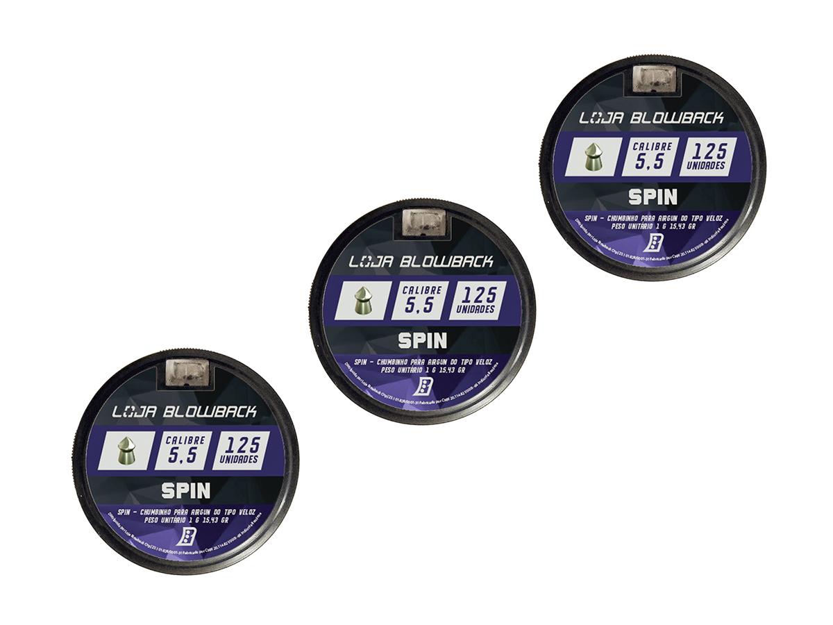 Chumbinho Spin 5.5mm Premium P/ Carabina Pressão 375un