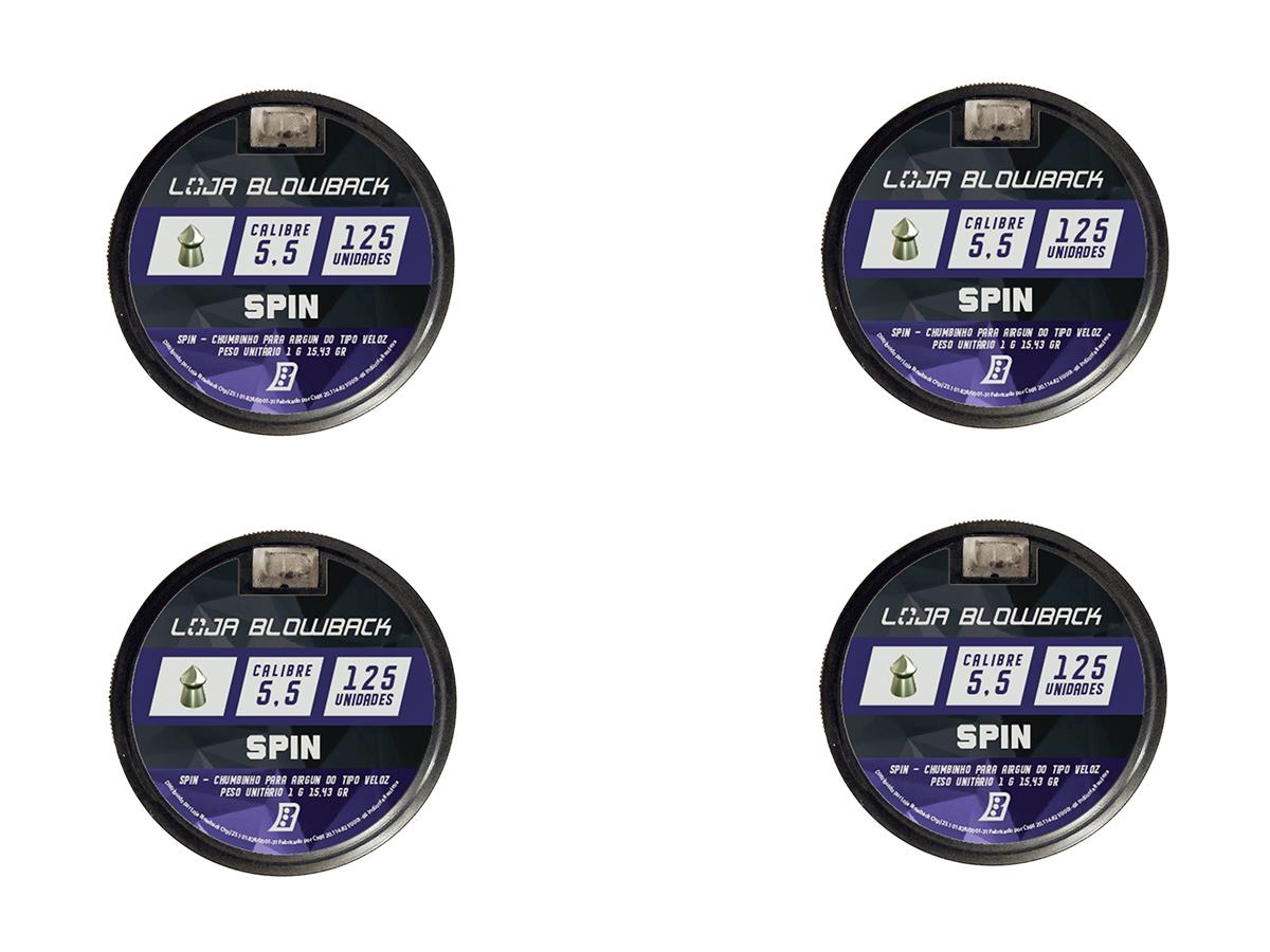 Chumbinho Spin 5.5mm Premium P/ Carabina Pressão 500un