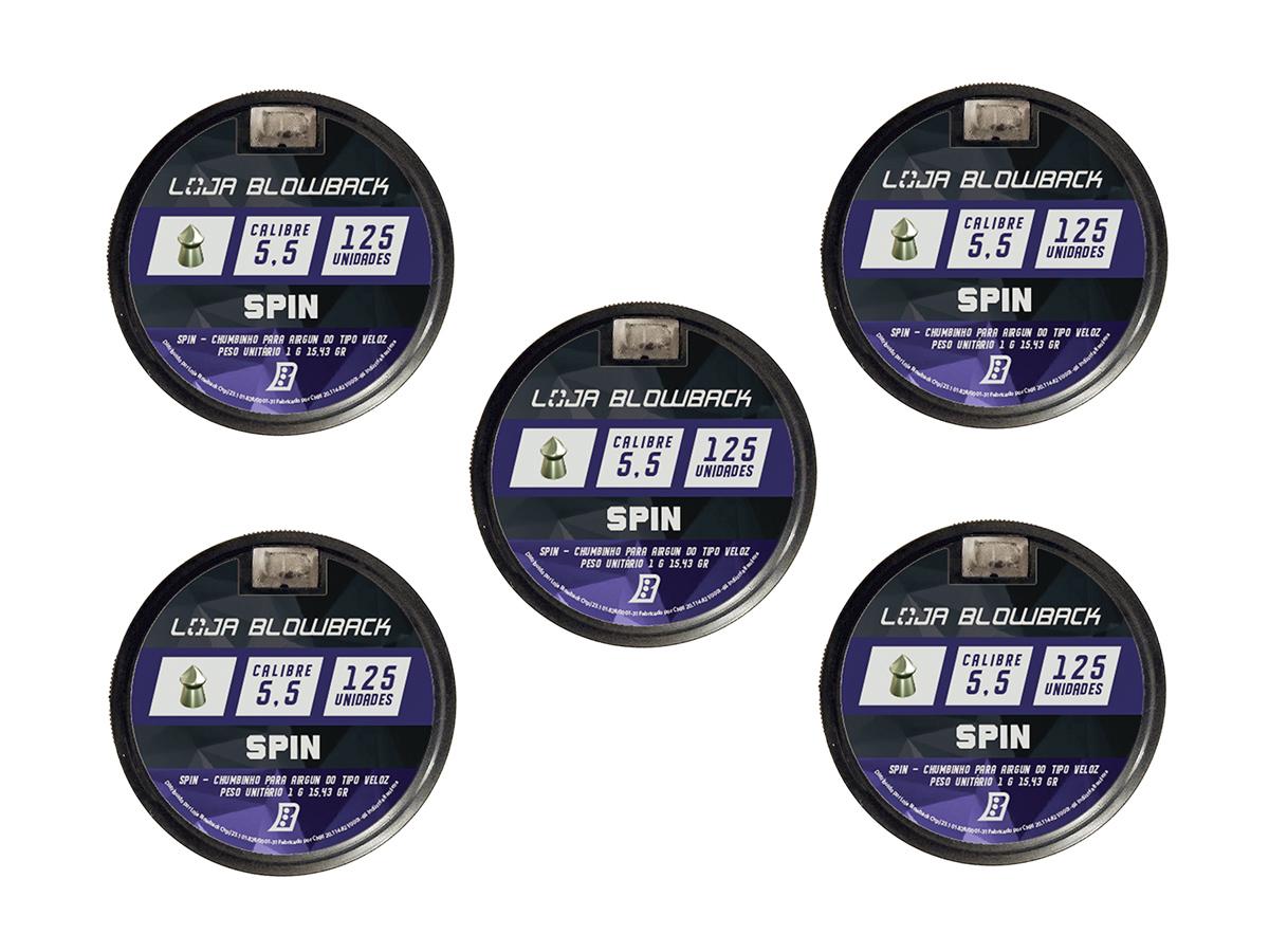 Chumbinho Spin 5.5mm Premium P/ Carabina Pressão 625un