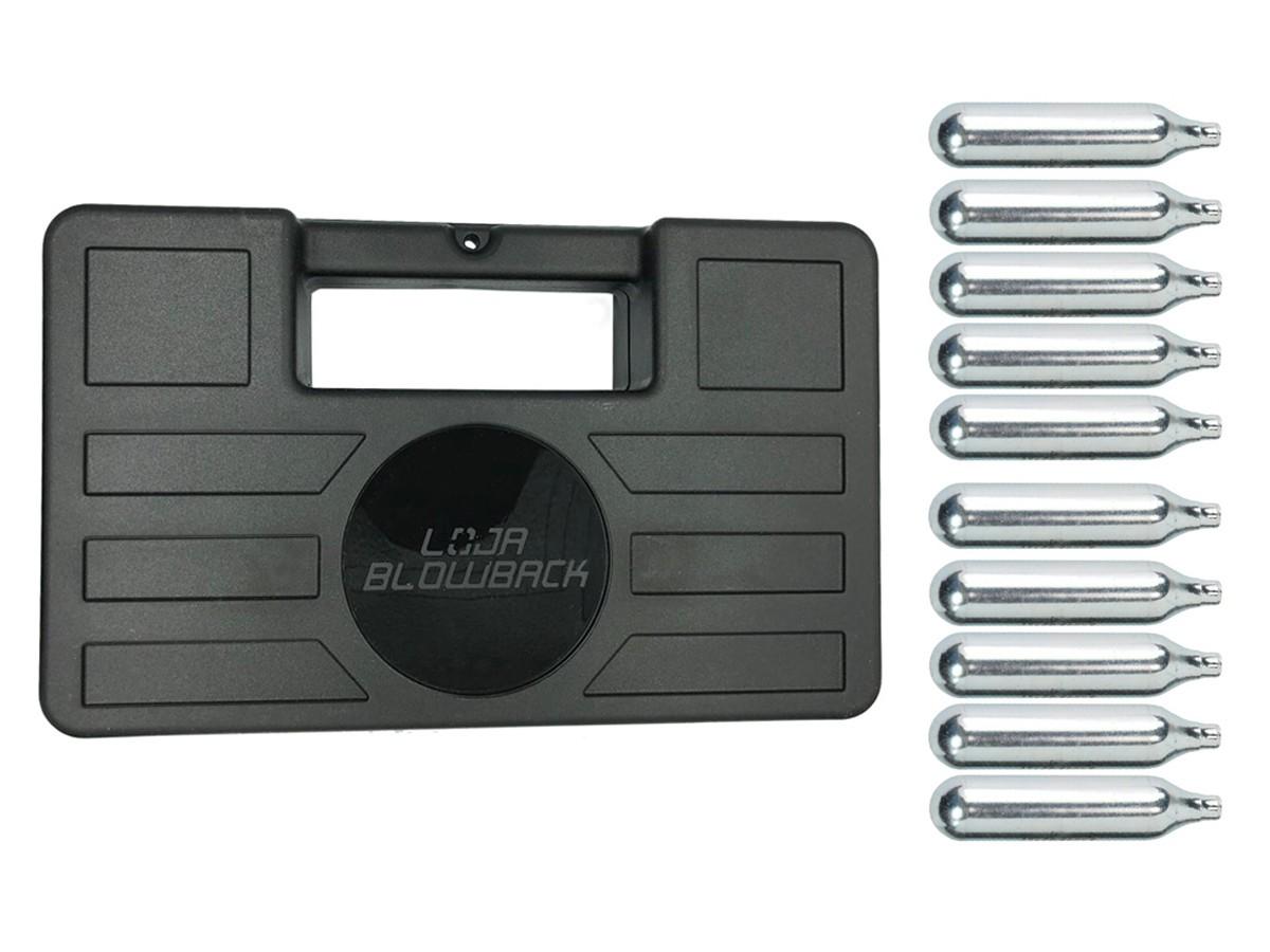 Cilindro Ampola 12g Co2 Capsula Airsoft 10 Pçs + maleta/case