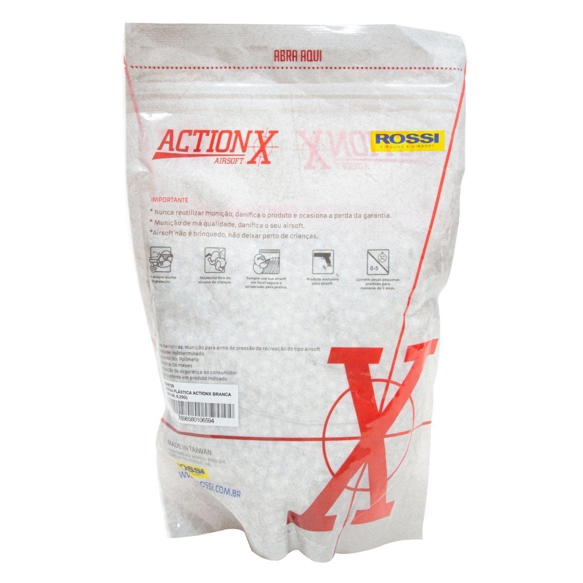 Esfera Plastica ActionX 0.25g Branca (4000un) 6mm