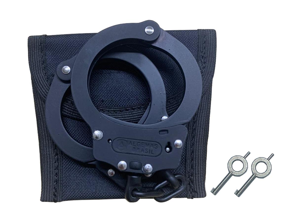 Kit Porta Algema Nylon C/ Velcro - Policial Tático Policia 4