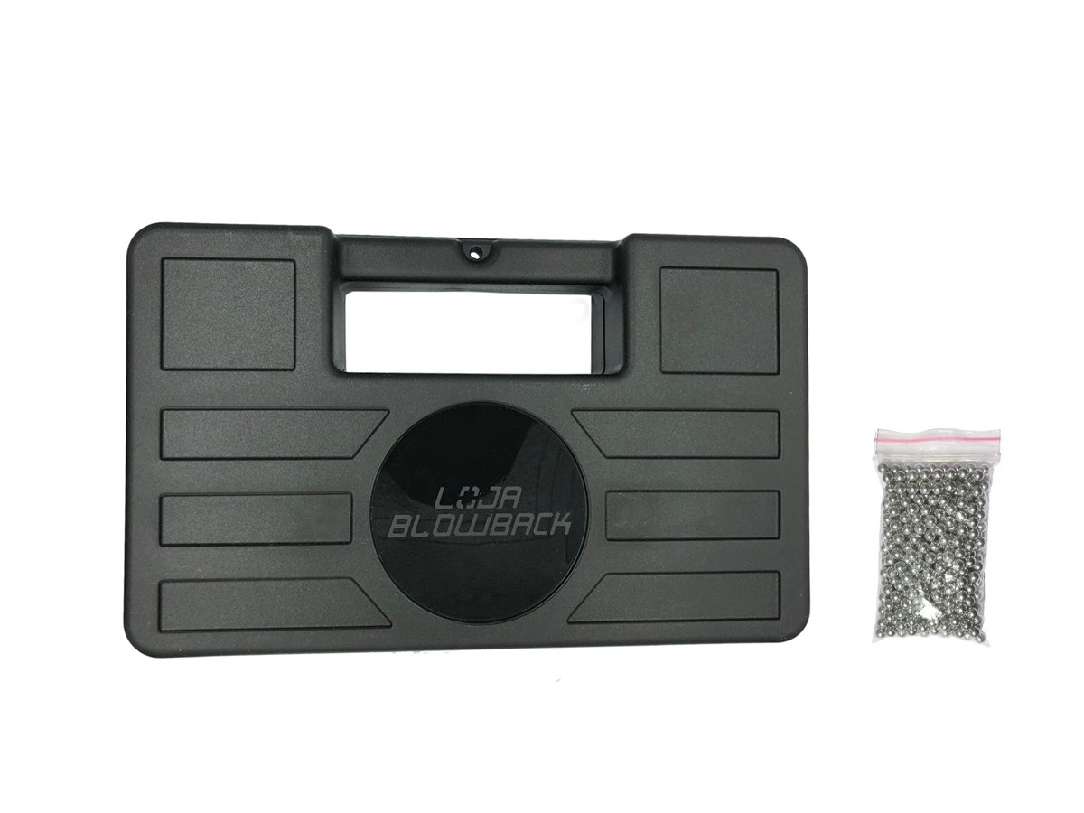 Maleta/case para armas airsoft e airgun + 500 esferas de aço