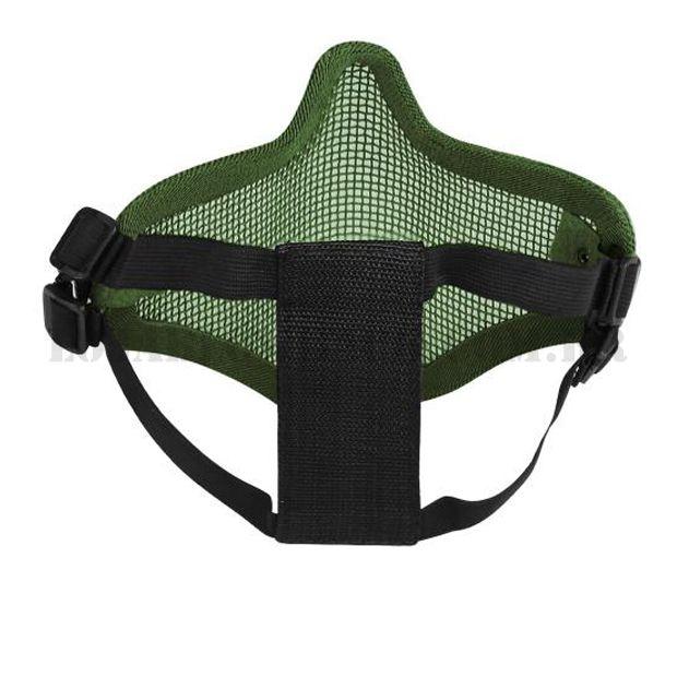 Máscara Airsoft Caveira meia face verde