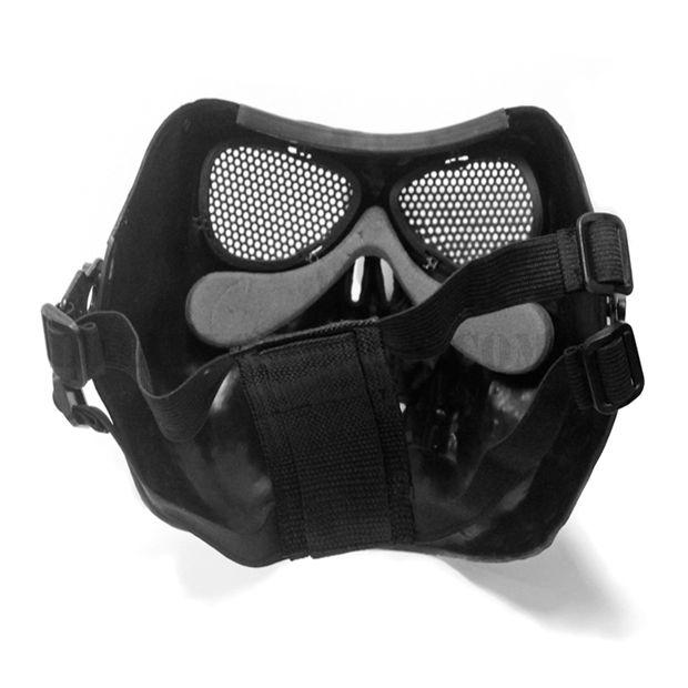 Máscara Airsoft Caveira Preta Attack