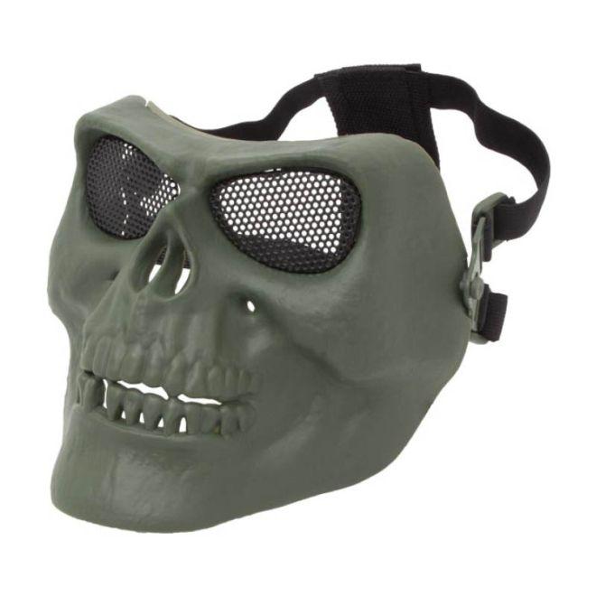 Máscara Airsoft Caveira Verde Attack