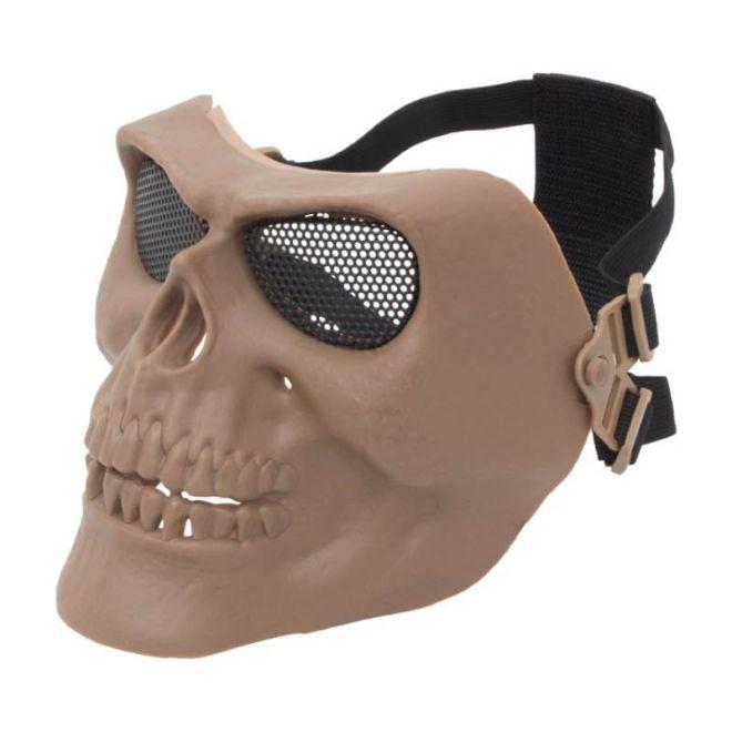 Máscara Airsoft Caveira Tan Attack
