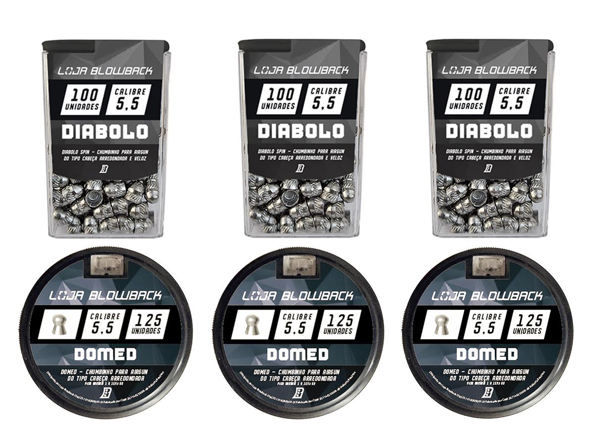 Mix Chumbinho Domed E Diabolo 5,5mm P/ Carabina Pressão K2