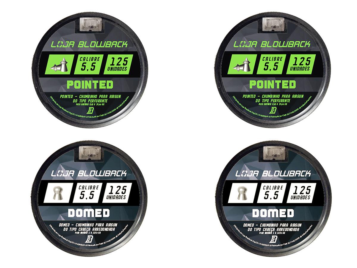 Mix Chumbinho Domed E Pointed 5,5mm P/ Carabina Pressão K1