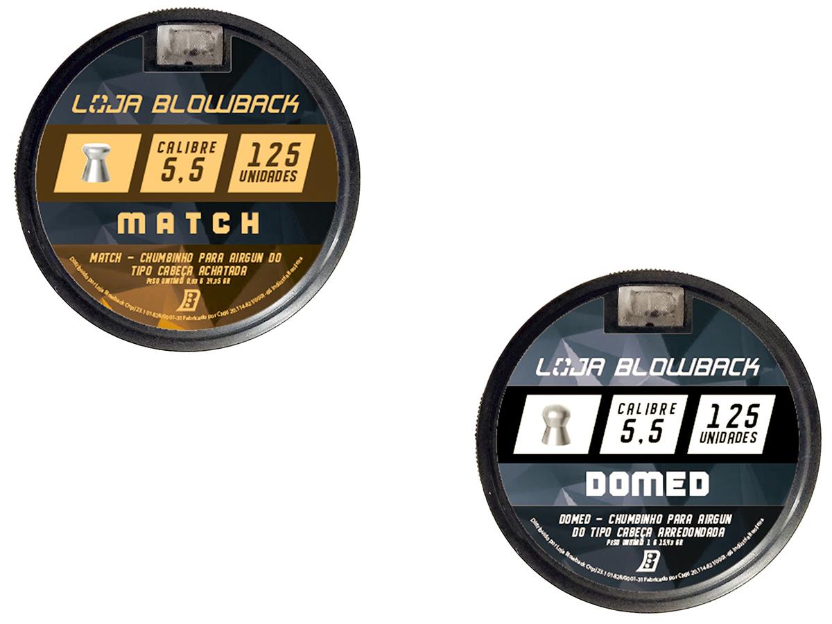 Mix De Chumbinho Domed E Match 5,5mm P/ Carabina Pressão