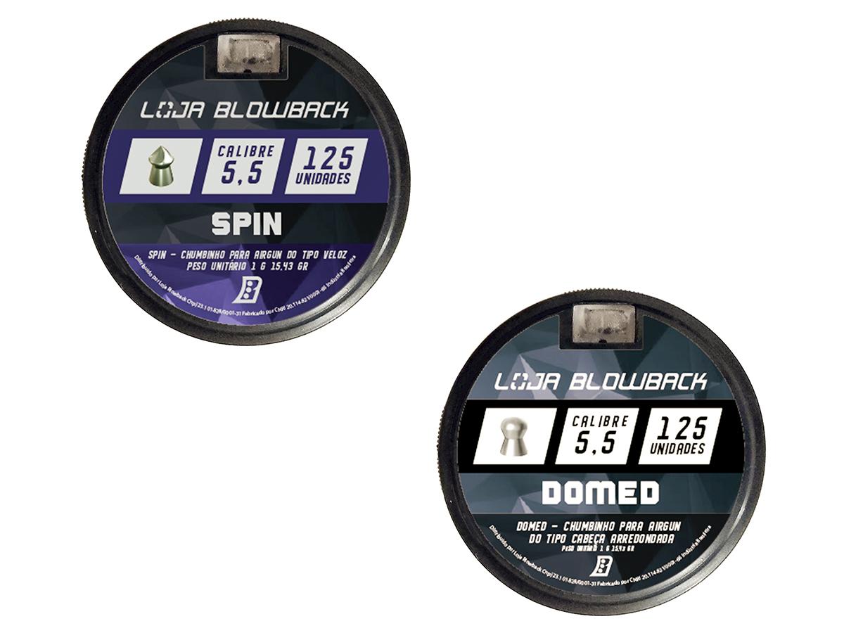 Mix De Chumbinho Domed E Spin 5,5mm P/ Carabina Pressão