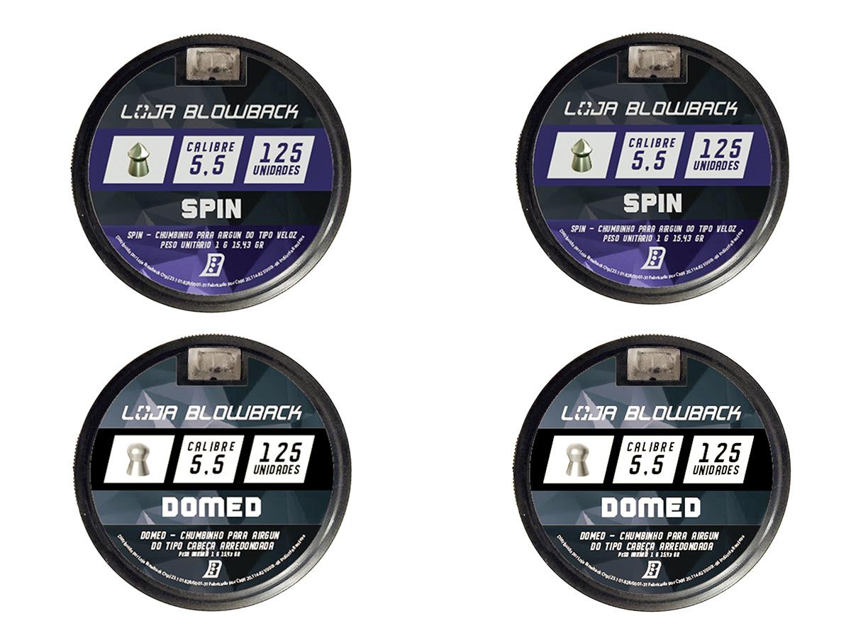 Mix De Chumbinho Domed E Spin 5,5mm P/ Carabina Pressão K1