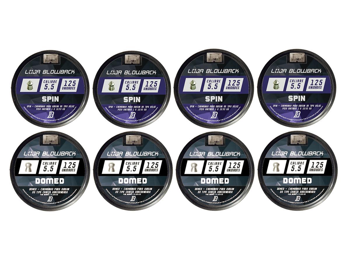 Mix De Chumbinho Domed E Spin 5,5mm P/ Carabina Pressão K3