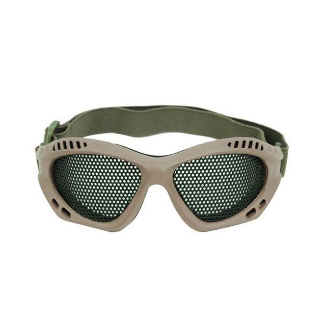 Óculos de Proteção para Airsoft em Tela de Metal TAN- DBoys