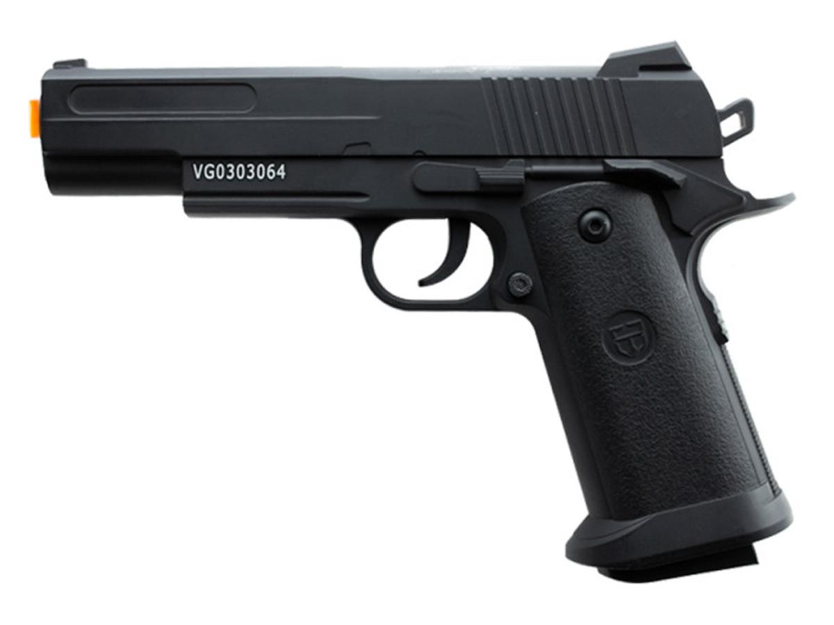 Pistola Airsoft 1911 V18 Full Metal Spring 6mm + 3000 Bbs 0,12g loja Blowback + Maleta + Coldre robocop