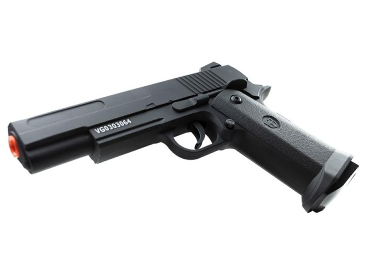 Pistola Airsoft 1911 V18 Full Metal Spring 6mm + 3000 Bbs 0,20g loja Blowback + Coldre robocop