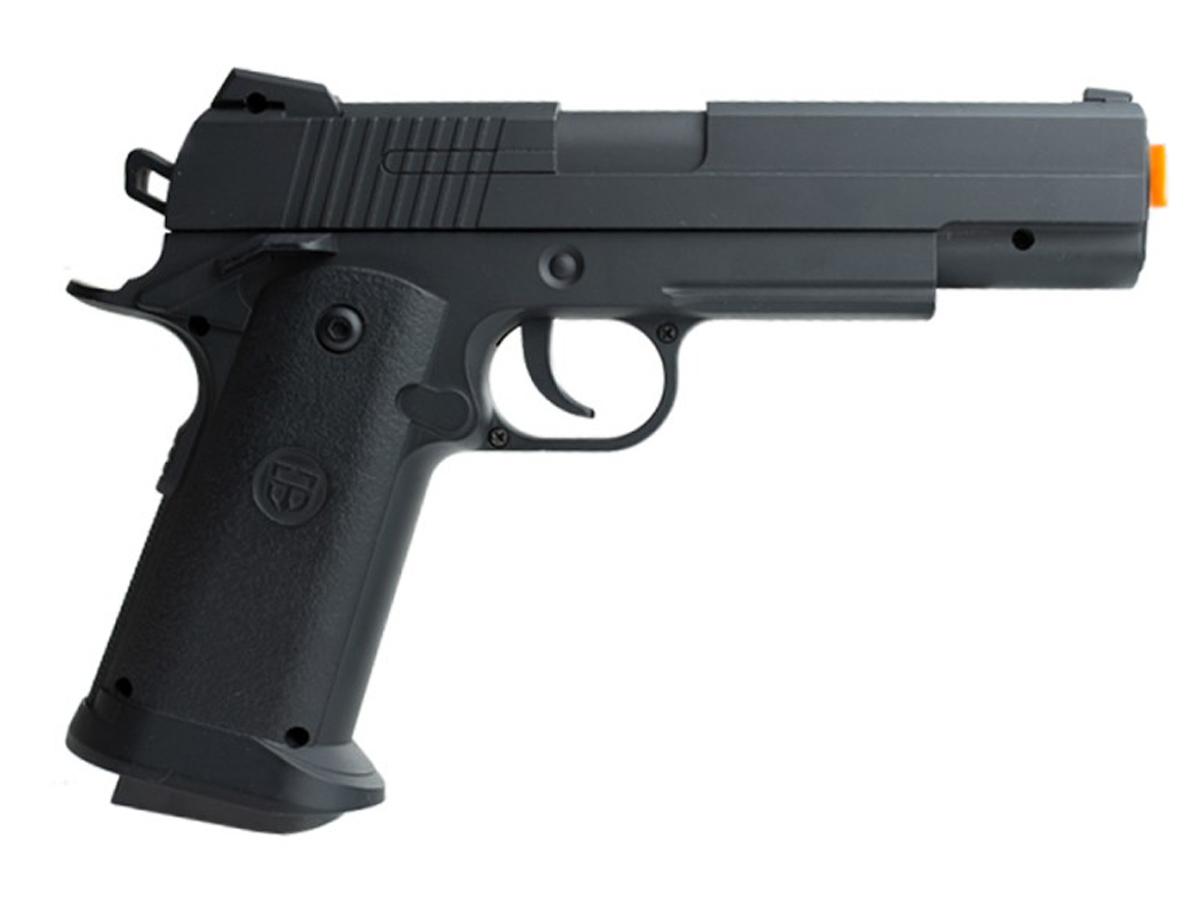 Pistola Airsoft 1911 V18 Full Metal Spring 6mm + 3000 Bbs 0,12g loja Blowback + Maleta