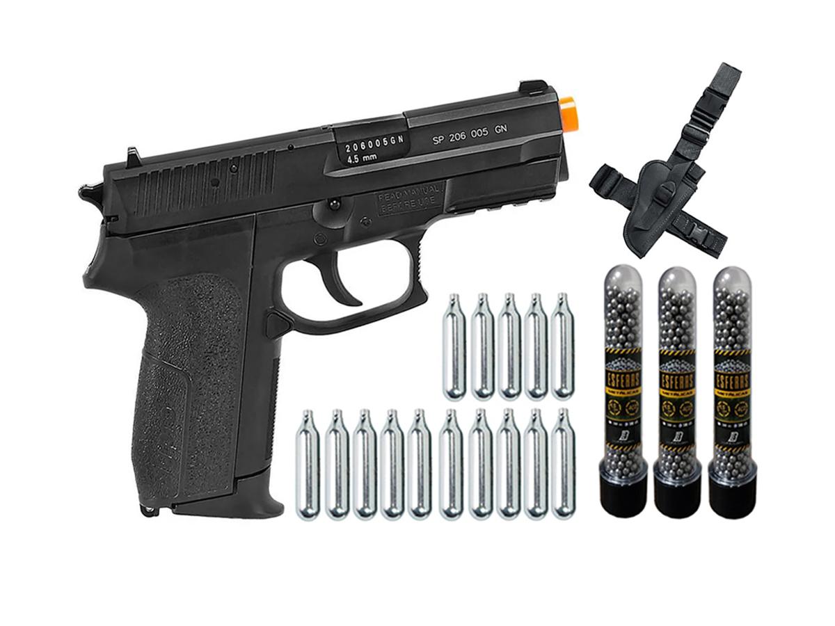 Pistola Airgun Co2 Sig Sauer Sp2022 Slide Metal 4,5mm Kit 10