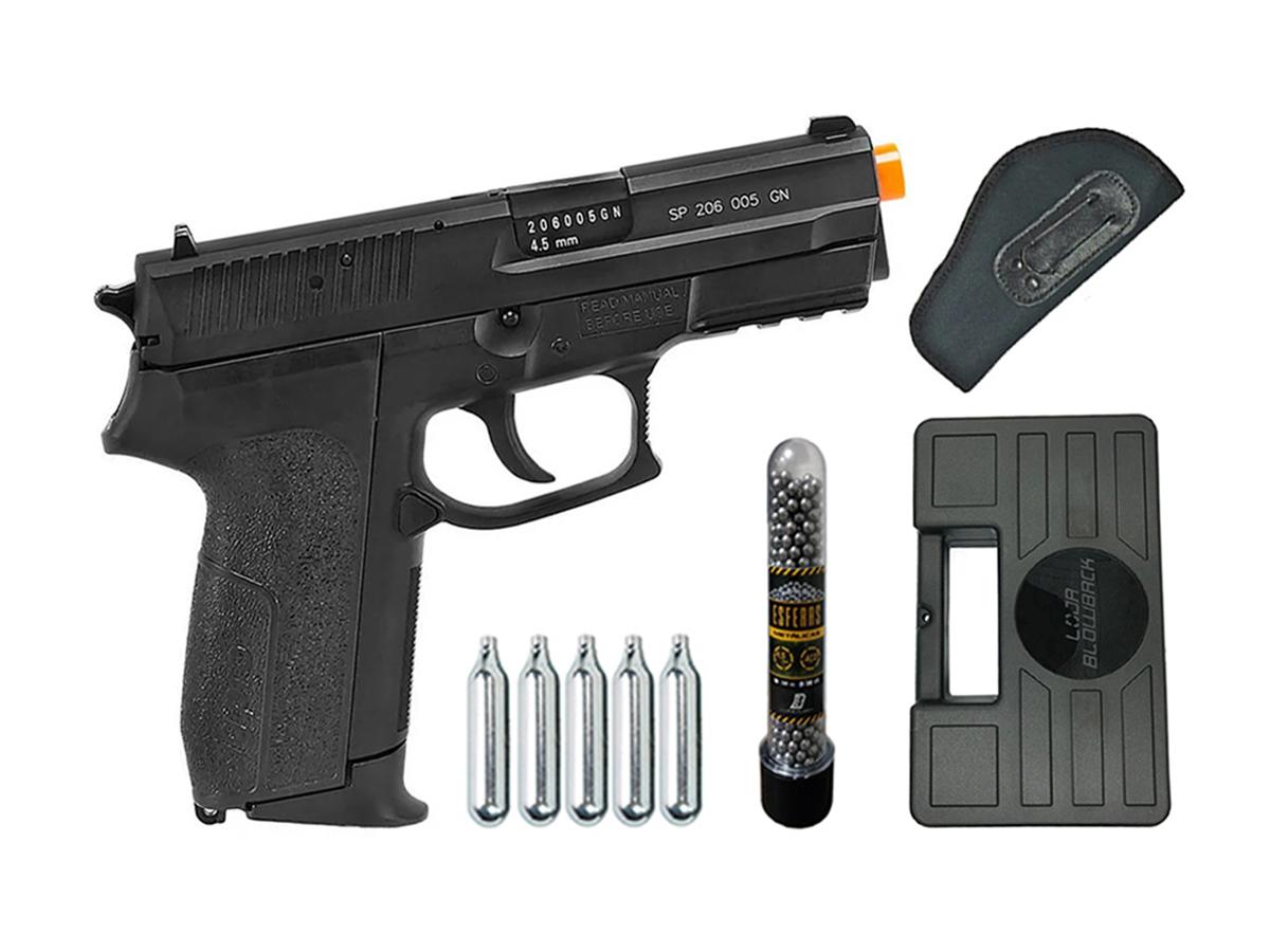 Pistola Airgun Co2 Sig Sauer Sp2022 Slide Metal 4,5mm Kit 12