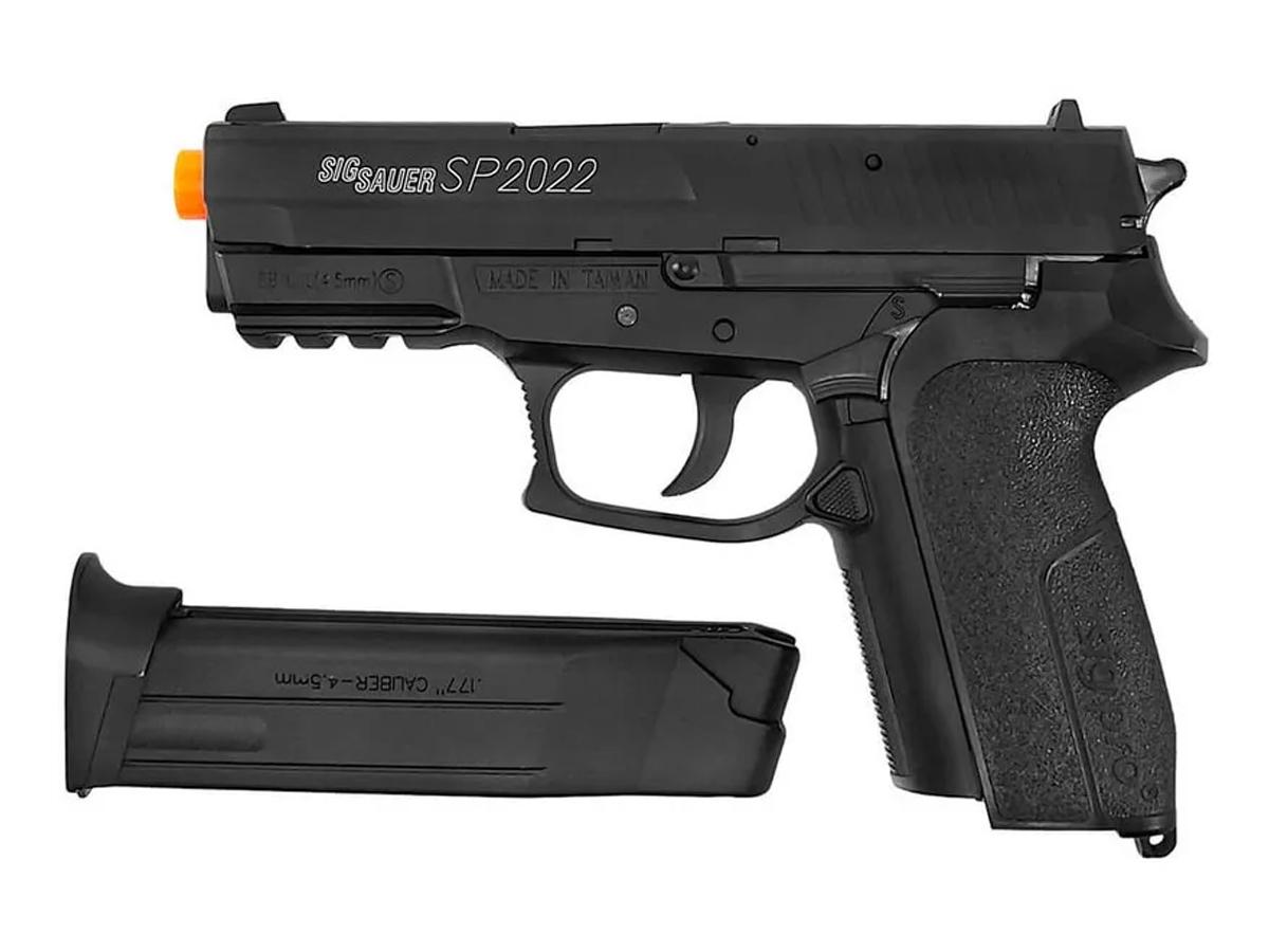 Pistola Airgun Co2 Sig Sauer Sp2022 Slide Metal 4,5mm Kit 18