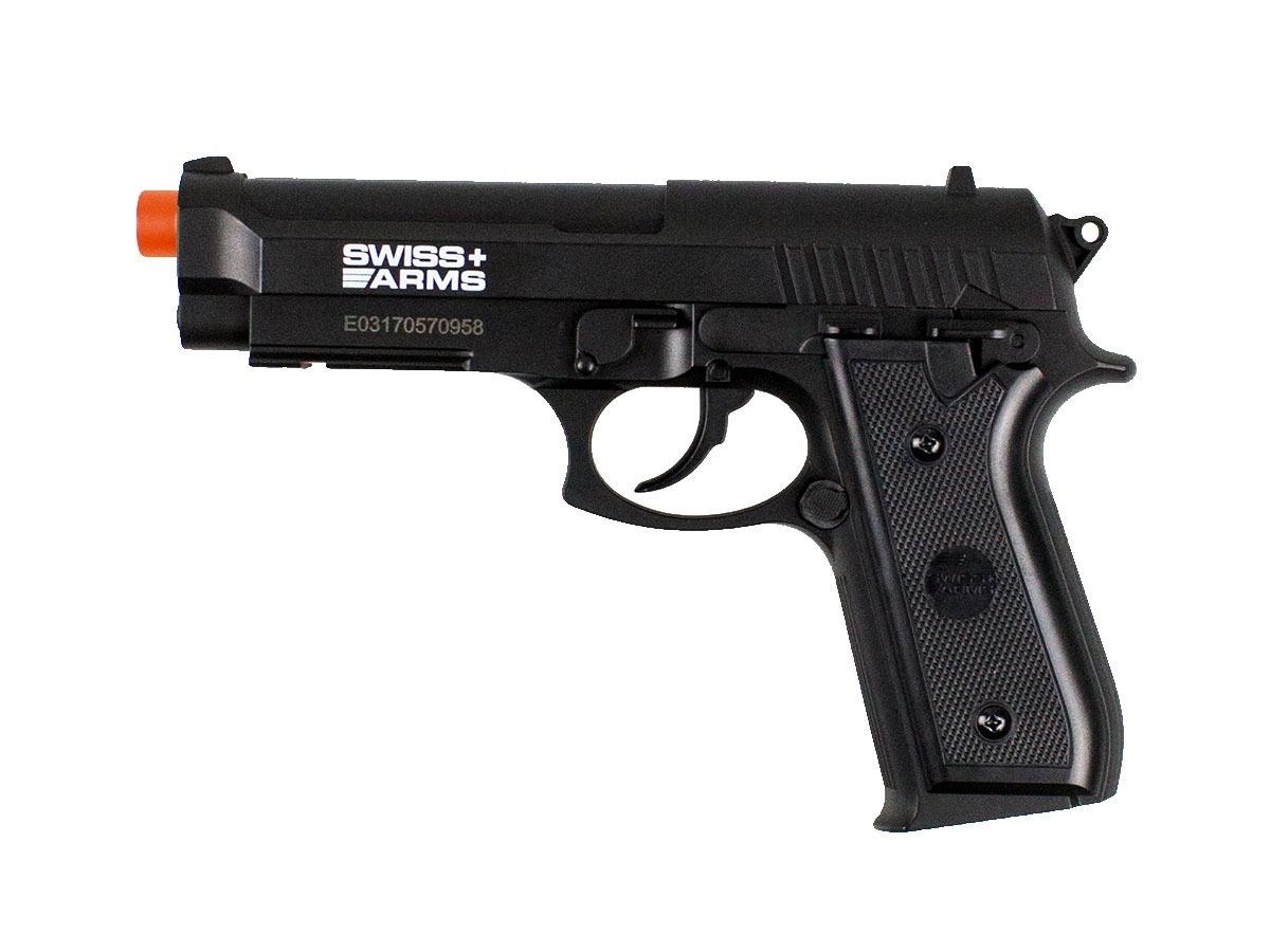 Pistola Airgun Co2 Swiss Arms PT92 Gnbb Cybergun 4,5mm K12
