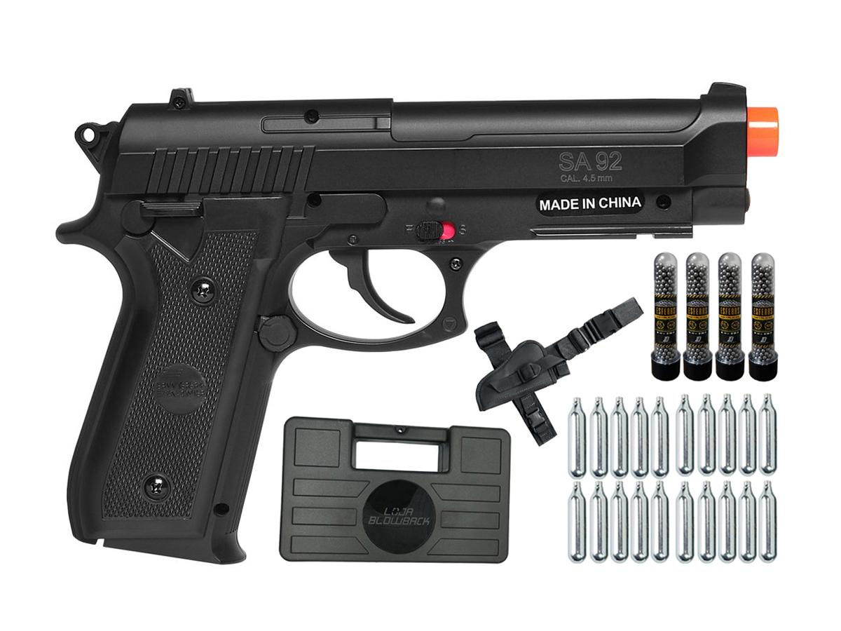 Pistola Airgun Co2 Swiss Arms PT92 Gnbb Cybergun 4,5mm K18