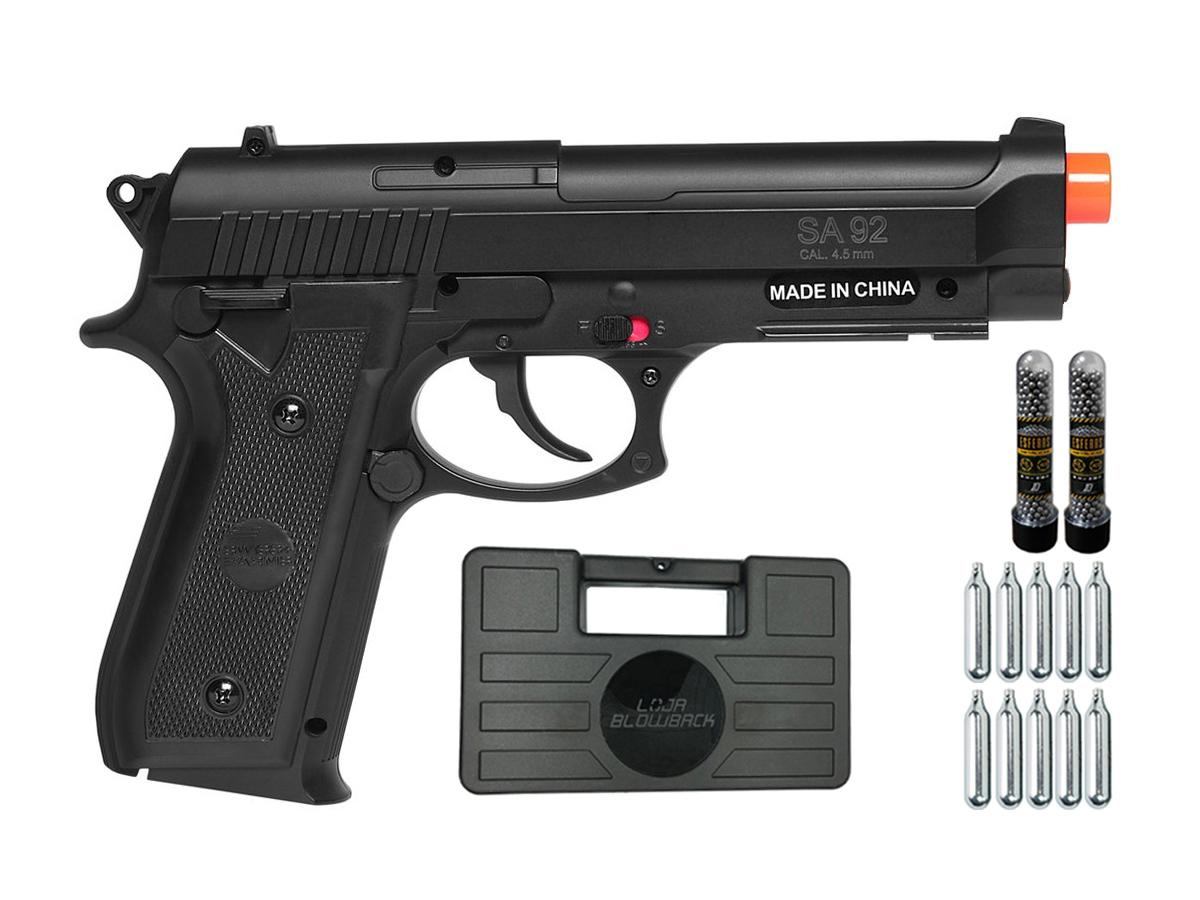 Pistola Airgun Co2 Swiss Arms PT92 Gnbb Cybergun 4,5mm K20