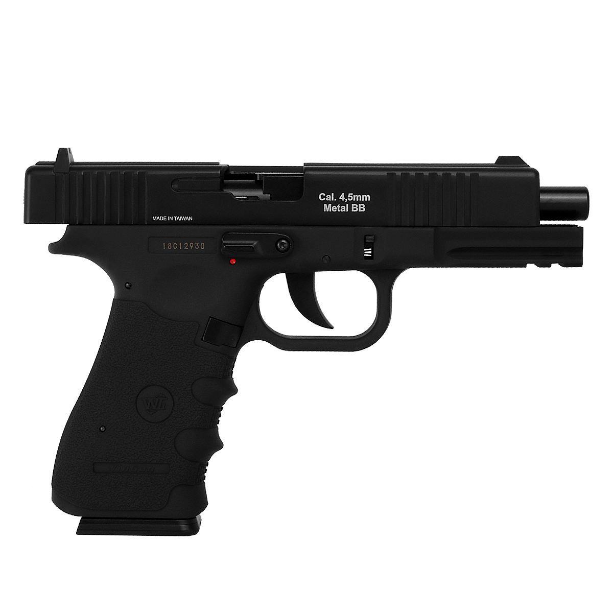 Pistola Airgun Gás Co2 Win Gun Glock W119 Blowback 4,5mm K3