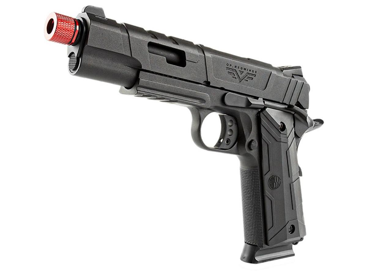 Pistola de Airsoft 1911 Gbb Slide Metal C/ Blowback Rossi 6mm + Green Gás loja Blowback + 3000 Bbs 0,20g loja Blowback