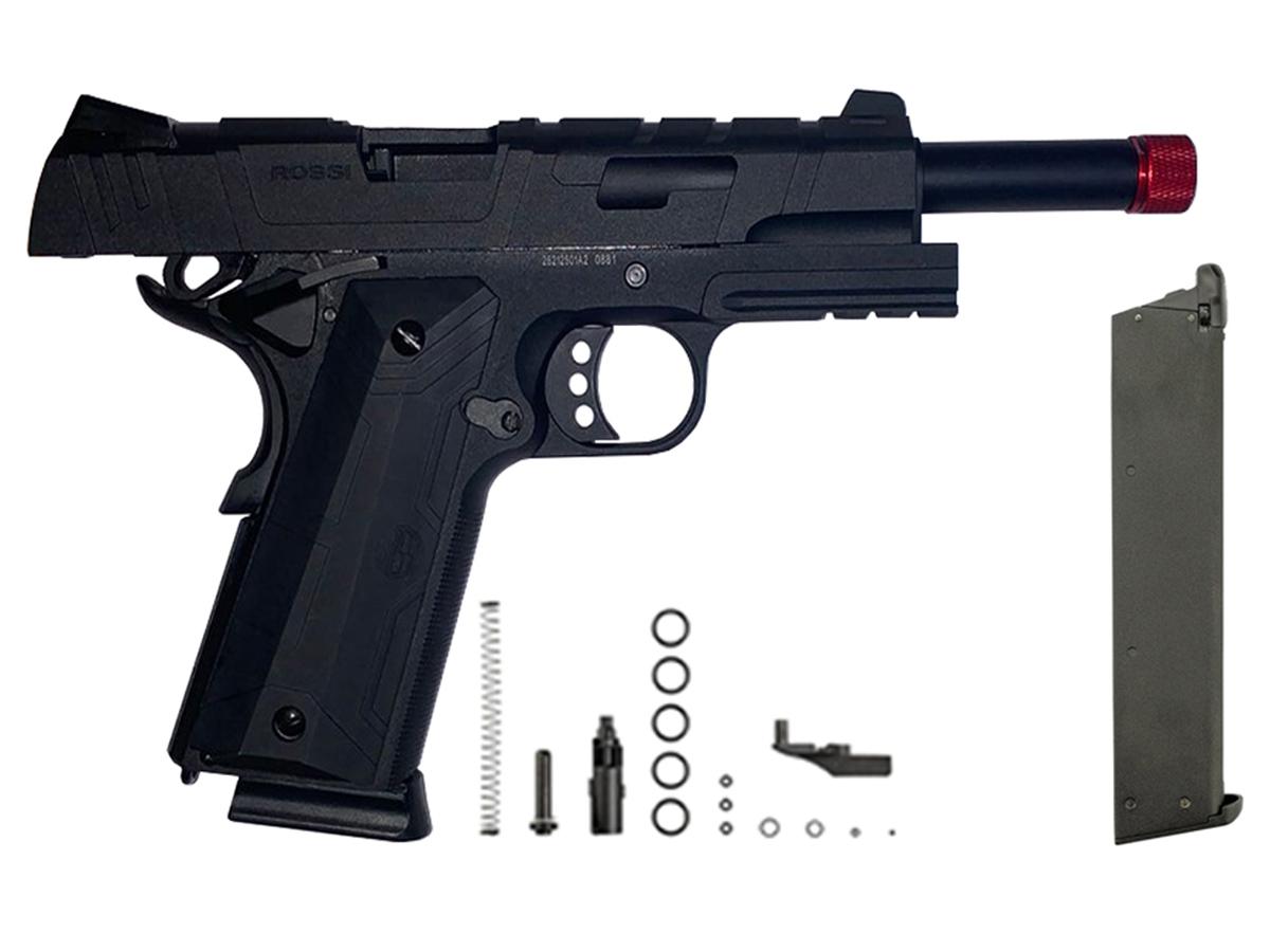 Pistola de Airsoft 1911 Gbb Slide Metal C/ Blowback Rossi 6mm + Magazine extra P/ 1911 Rossi Green Gás