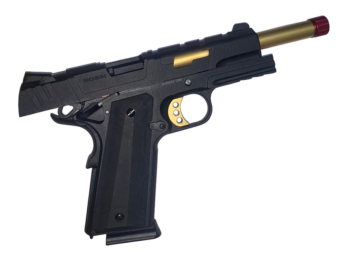 Pistola de Airsoft 1911 Slide Metal Gbb Gold C/ Blowback Rossi 6mm