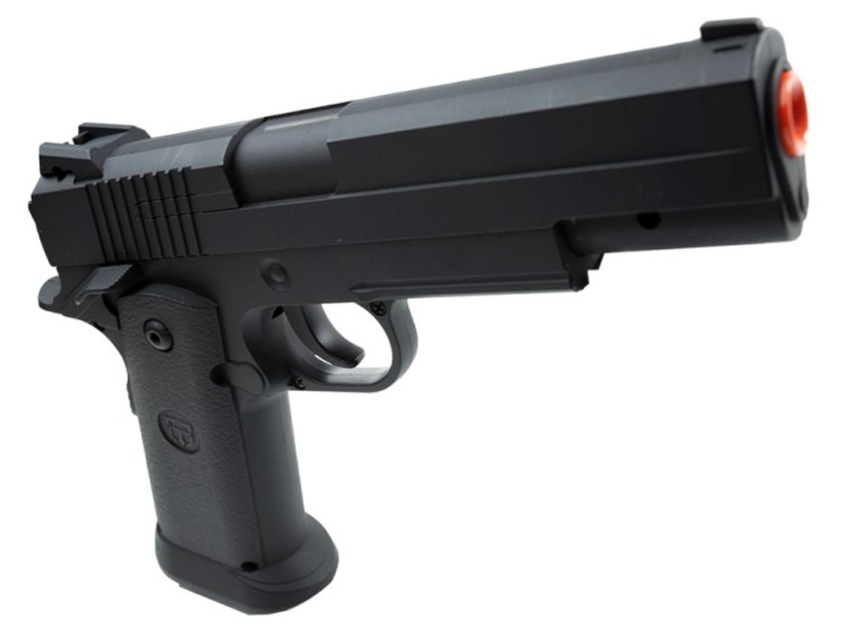 Pistola Airsoft 1911 V18 Full Metal Spring 6mm + 2000 Bbs 0,20g loja Blowback + Coldre velado