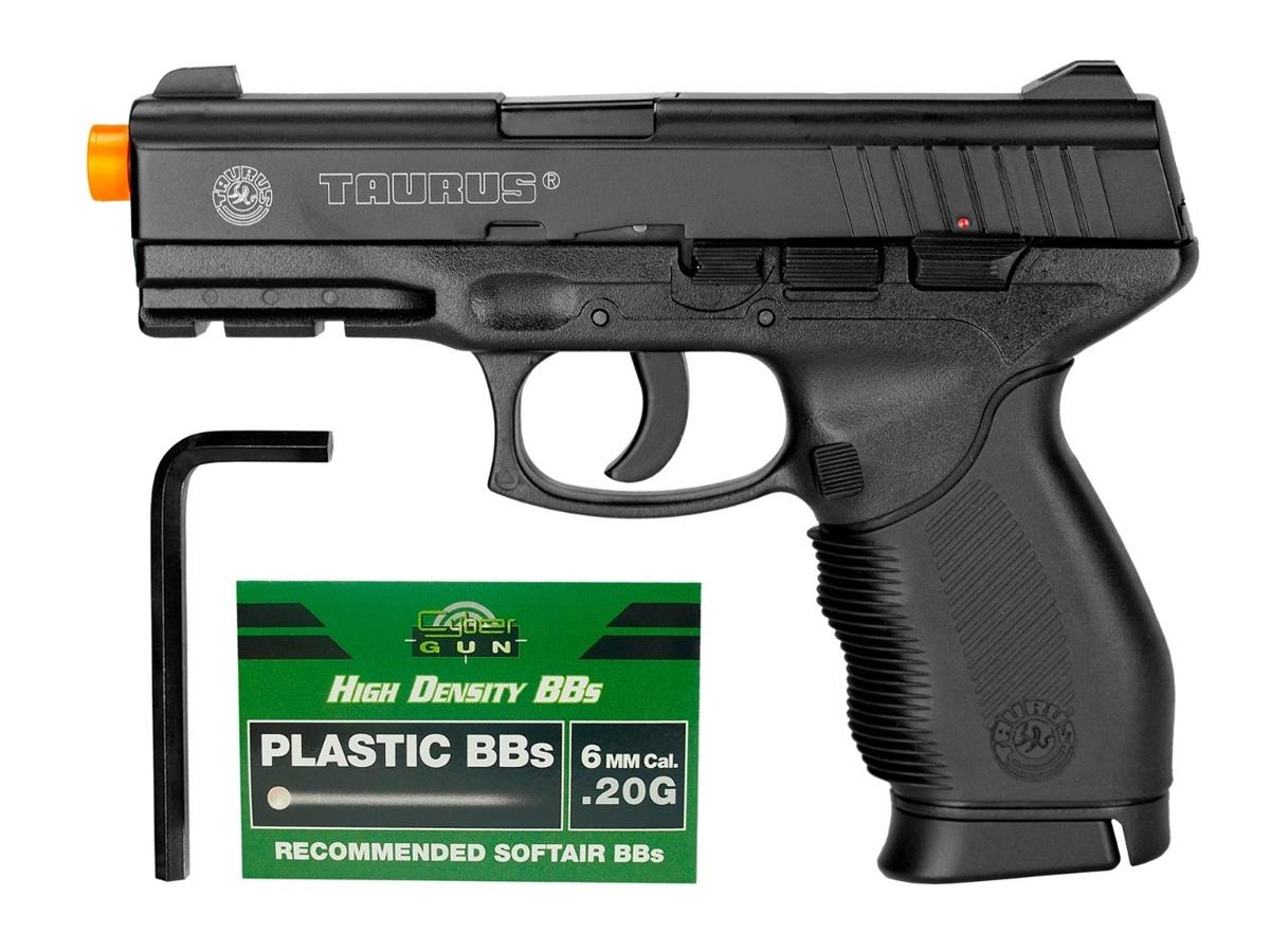 Pistola Airsoft 24/7 Co2 Taurus Slide Metal Cybergun 6mm