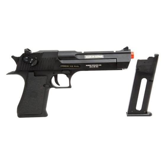 Pistola Desert Eagle CO2 BlowBack Full Metal com Rajada 6mm