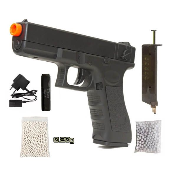 Pistola Airsoft Elétrica Glock 18c Cm.030 Cyma Rajada He1